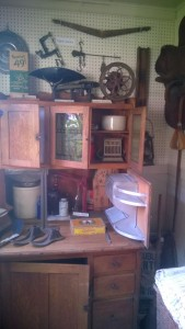 Cupboard and items