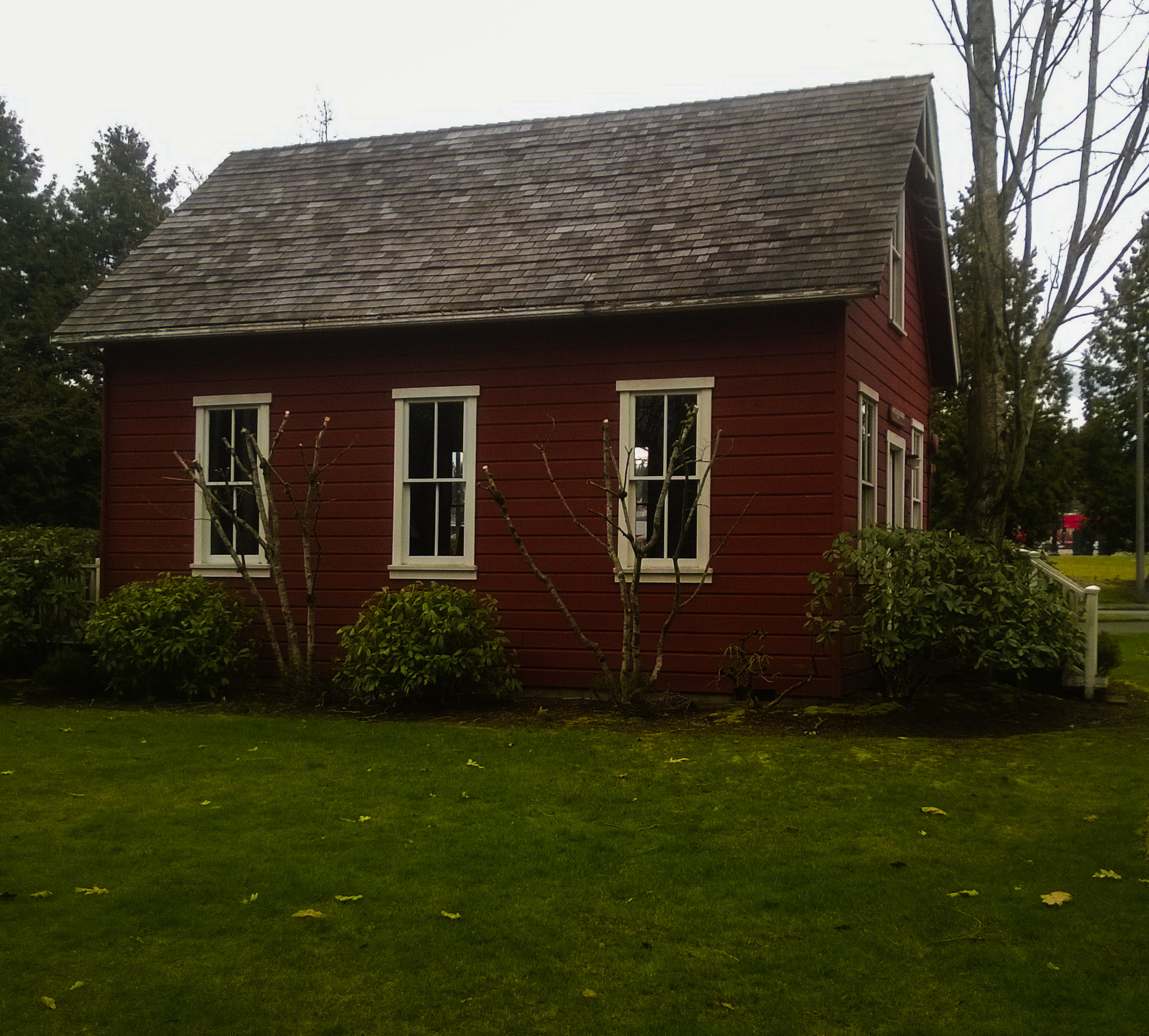 Bothell's first schoolhouse, 1885, now in the Park at Bothell Landing