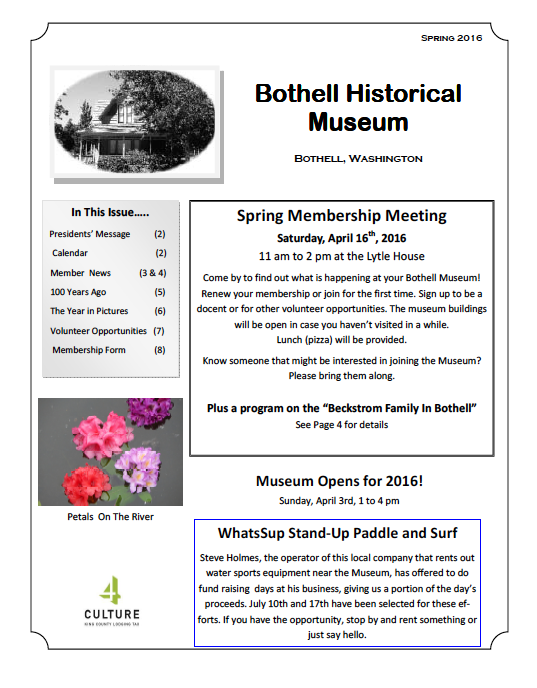 spring 2016 newsletter front page