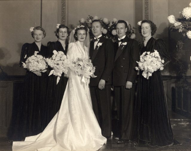 December 16, 1939--Ron and Eleanor (Bird) Green wedding