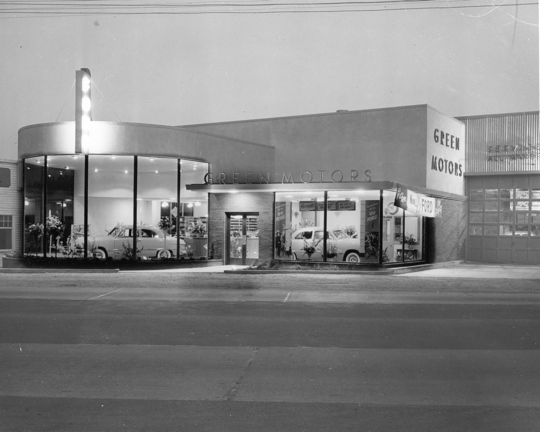 The new 1948 Green Motor Company building