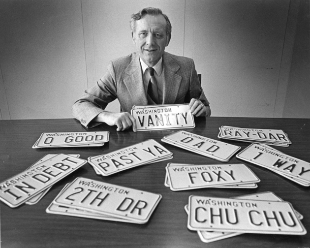 """Ron Green at the DMV with """"vanity plates"""""""