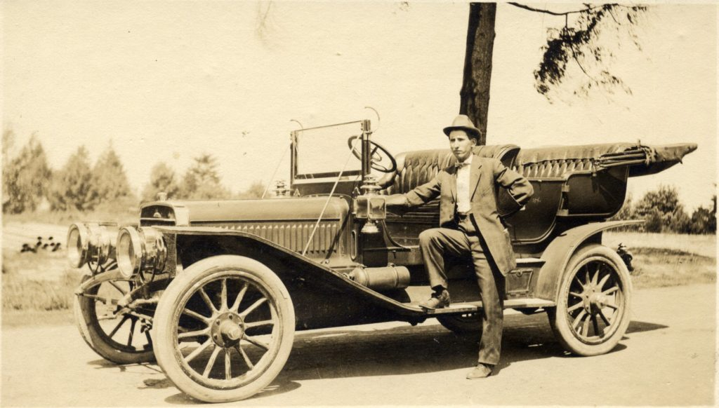 Charles Green with the 1911 Winton